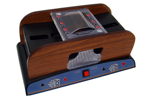 Brybelly GSHU-004 2 Deck Wooden Deluxe Card Shuffler - Peazz.com
