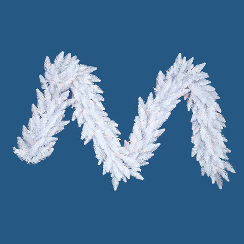 1.2' Vickerman K880415 White Ashely Spruce - White - Peazz.com