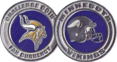 Brybelly NFL-1901 Challenge Coin Card Guard - Minnesota Vikings - Peazz.com