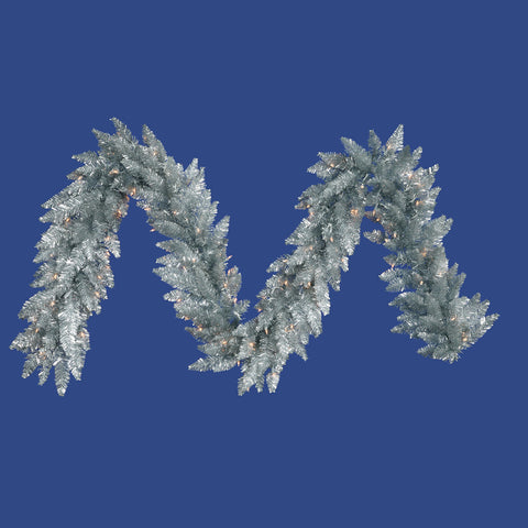 1.2' Vickerman K884915 Silver Ashley Spruce - Silver - Peazz.com