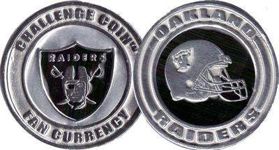 Brybelly NFL-2701 Challenge Coin Card Guard - Oakland Raiders - Peazz.com