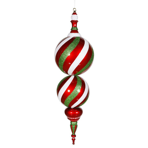 2.5' Vickerman M110830 Candy Series - Red, White, Green - Peazz.com