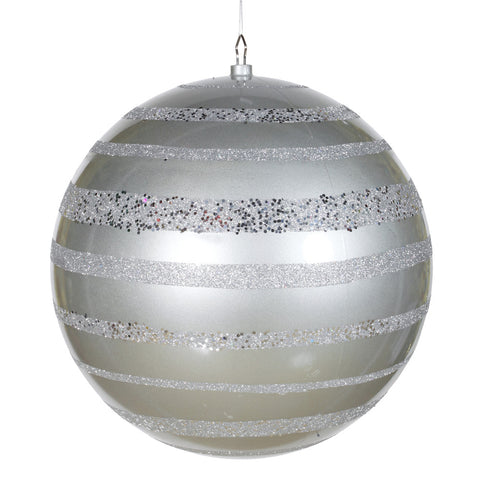 1.3' Vickerman M118507 Sequin - Silver - Peazz.com