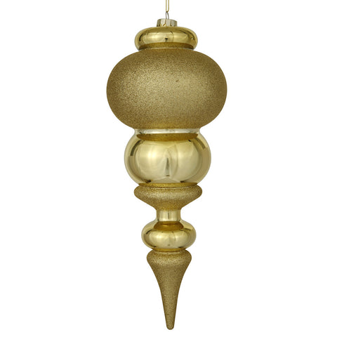 1.2' Vickerman N500408 Plastic Finial - Gold - Peazz.com
