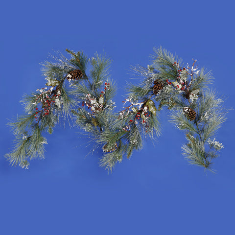 1.2' Vickerman S103214 Iced White Pine - Green - Peazz.com