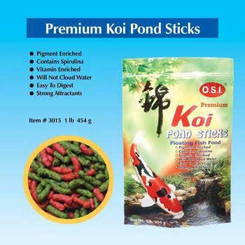Koi premium pond sticks 1lb for Koi pond sticks