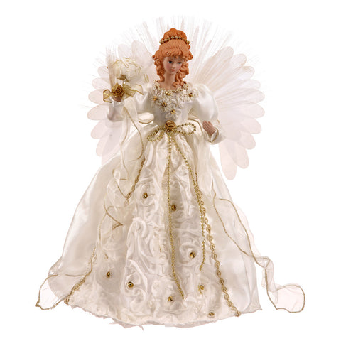 1.5' Vickerman V119806 Tree Topper - White, Gold - Peazz.com