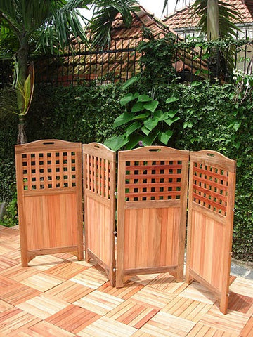 Vifah V163 Outdoor Wood Privacy Screen - Peazz.com