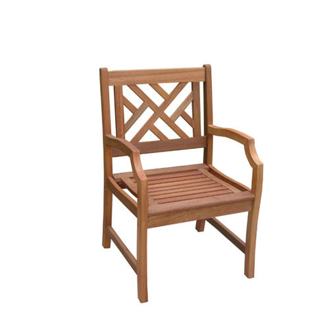 Vifah V187 Outdoor Wood Armchair - Peazz.com
