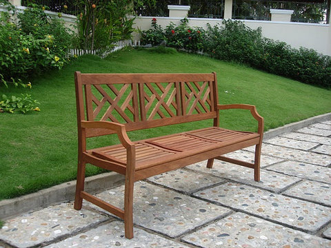 Vifah V188 Outdoor Wood Bench - Peazz.com