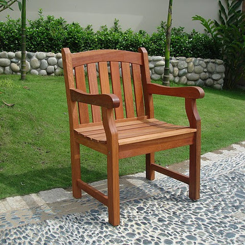 Vifah V211 Outdoor Wood Arm Chair - Peazz.com