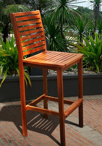 Vifah V495 Outdoor Wood Bar Chair - Peazz.com