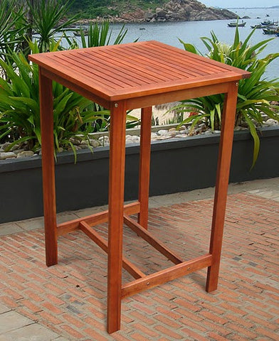 Vifah V495T Outdoor Wood Bar Table - Peazz.com