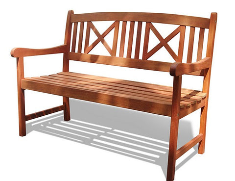 Vifah V507 Outdoor Wood Bench - Peazz.com