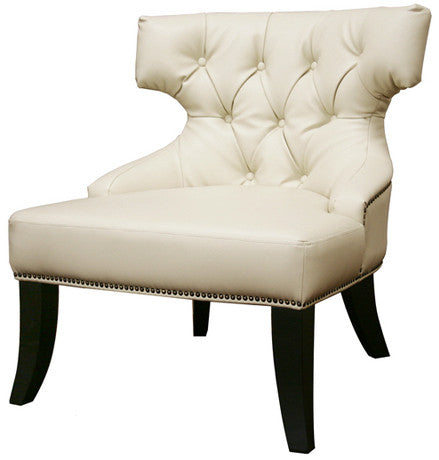 Wholesale Interiors A-172-017 Taft Off-White Leather Club Chair - Each - Peazz.com