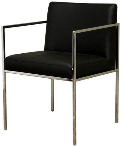 Wholesale Interiors ALC-1118-Black Atalo Black Leather Chair - Each - Peazz.com