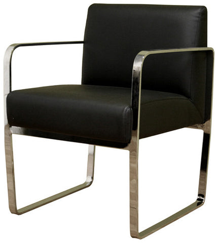 Wholesale Interiors ALC-1120-Black Meg Black Leather Chair - Each - Peazz.com
