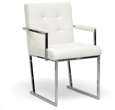 Wholesale Interiors ALC-1128 White Collins Ivory Mid-Century Modern Accent Chair - Each - Peazz.com