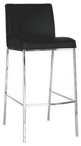 Wholesale Interiors ALC-2213-75 Black Mesa Black Leather Bar Stool - Set of 2 - Peazz.com