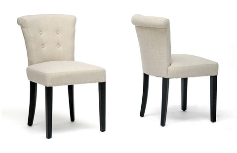 Wholesale Interiors BH-63103 Philippa Beige Linen Dining Chair - Set of 2 - Peazz.com