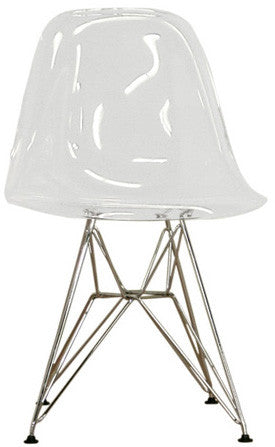 Wholesale Interiors CC-231-Clear Lexy Clear Accent Chair - Set of 2 - Peazz.com