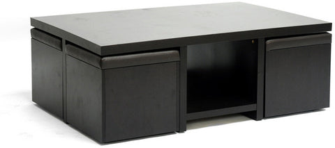 Wholesale Interiors CT-1190-CTS-1190 Prescott Modern Table and Stool Set with Hidden Storage - Each - Peazz.com