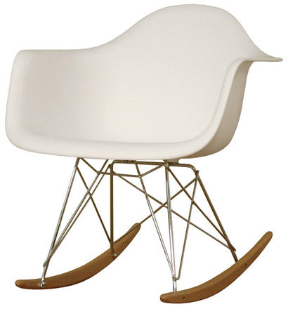 Wholesale Interiors DC-311W-white White Plastic Rocking Chair - Each - Peazz.com