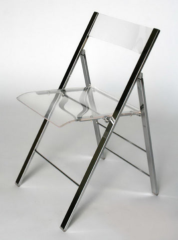 Wholesale Interiors FAY-506-Clear Acrylic Foldable Chair - Set of 2 - Peazz.com