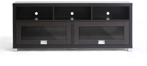 Wholesale Interiors FTV-885 Swindon Modern TV Stand with Glass Doors - Each - Peazz.com