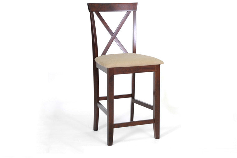 Wholesale Interiors PCH6855(S3)-24 Natalie Brown Wood Modern Counter Stool - Set of 2