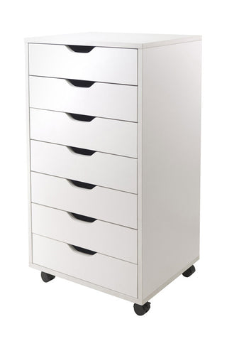 Winsome Wood 10792 Halifax Cabinet for Closet / Office, 7 Drawers, White - Peazz.com