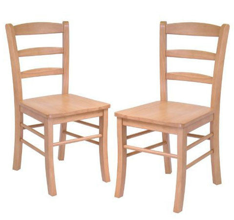 Winsome Wood Set of 2 Ladder Back Chair, RTA 34232 - Peazz.com