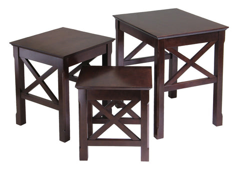 Winsome Wood 40333 Xola 3pc Nesting Table - Peazz.com