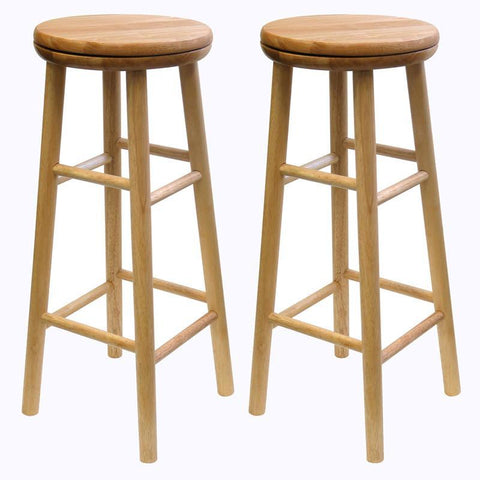 "Winsome Wood 88830 Sets of 2, Swivel 30"" Stool, Assembled - BarstoolDirect.com"