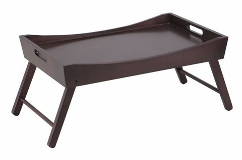 Winsome Wood Benito Bed Tray with Curved Top, Foldable Legs 92022 - Peazz.com