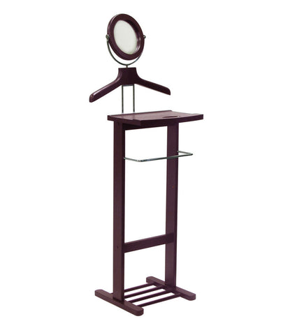 Winsome Wood 92055 Valet Stand with Mirror, open base - Peazz.com