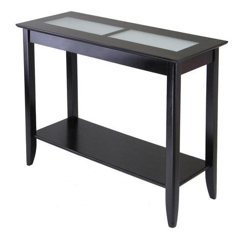 Winsome Wood 92240 Syrah Console/Hall Table with Frosted Glass - Peazz.com