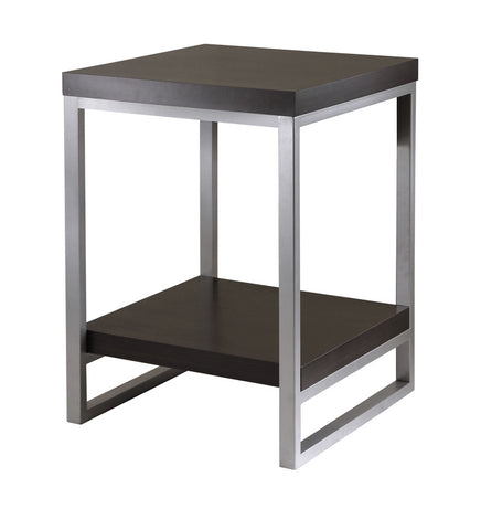 Winsome Wood 93418 Jared End Table, Enamel Steel Tube - Peazz.com