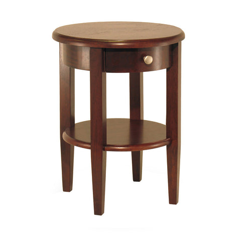 Winsome Wood 94217 Concord Round End Table with Drawer and Shelf - Peazz.com