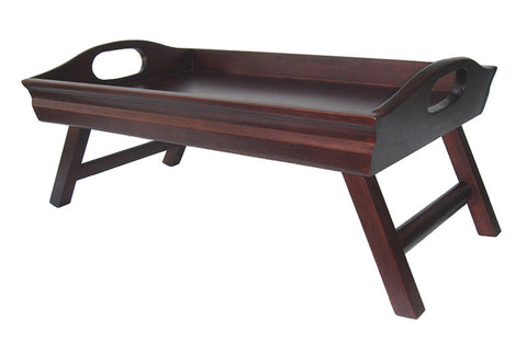 Winsome Wood 94725 Sedona Bed Tray Curved Side, Foldable Legs, Large Handle - Peazz.com