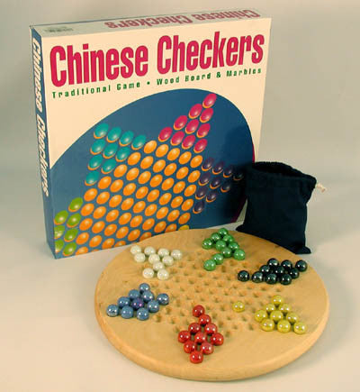 Wood Chinese Checkers w/ Marbles - Peazz.com