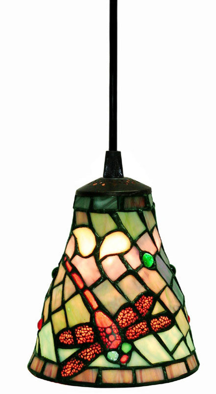Tiffany Style Dragonfly Hanging Light by Warehouse of Tiffany 2011 7 Hanging - Free Ground Shipping WOT-2011-7-Hanging