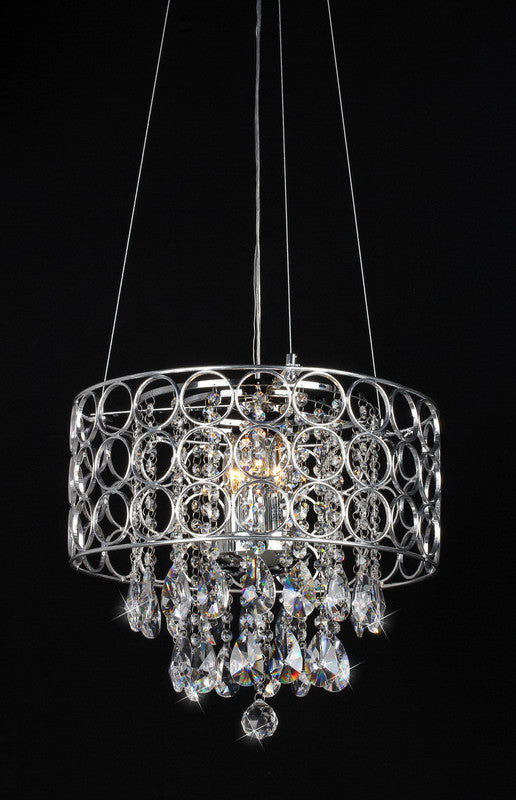 Warehouse of Tiffany RL1189 Antoinette Crystal-Chrome Chandelier WOT-RL1189