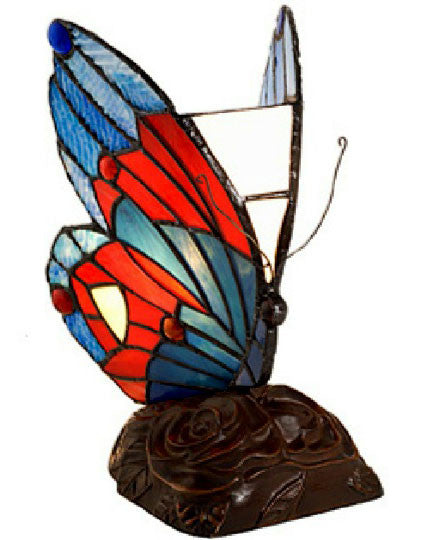 Tiffany-style Green Butterfly Table Lamp by Warehouse of Tiffany TU3022 - Free Ground Shipping WOT-TU3022