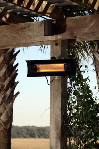 Well Traveled Living 60460 Black Steel Wall Mounted Infrared Patio Heater - Peazz.com