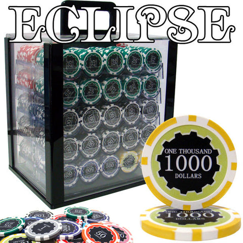 Brybelly PCS-3006AC 1,000 Ct Custom Breakout Eclipse 14 Gram Chip Set - Acrylic - Peazz.com