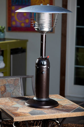Well Traveled Living 61322 Hammer Tone Bronze Finish Table Top Patio Heater - Peazz.com