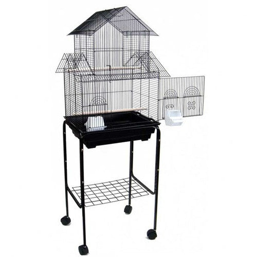 Pagoda Small Bird Cage with Stand 5844_4814BLK