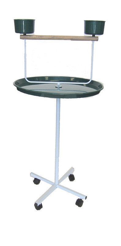 "YML Group PS22 22"" Parrot Stand in Green"
