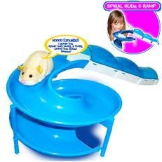Zhu Zhu Pets Add On Playset Spiral Slide With Ramp Hamster NOT Included!